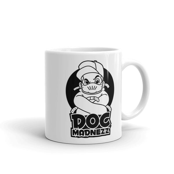 Doc Madnezz Mug - White Doc Madnezz Logo