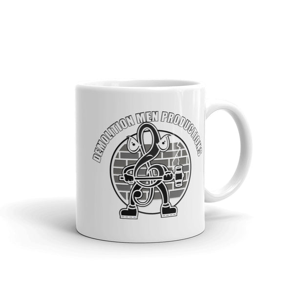 DMP White Mug - Black & White Mr Clef