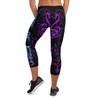 POM Black Capri Leggings