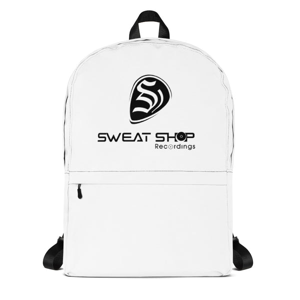 SSR White Backpack - Black Logo