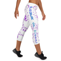 POM White Capri Leggings