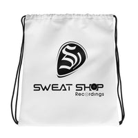 SSR White Drawstring Bag - Black Logo Print