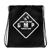 DMP Black Drawstring Bag - White Sign Logo