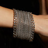 METAL 8-Row Ribbon Cuff