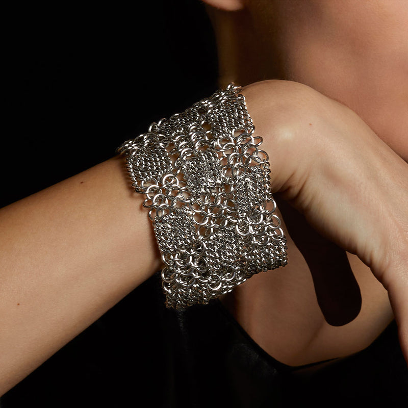 METAL Checkerboard Cuff Bracelet