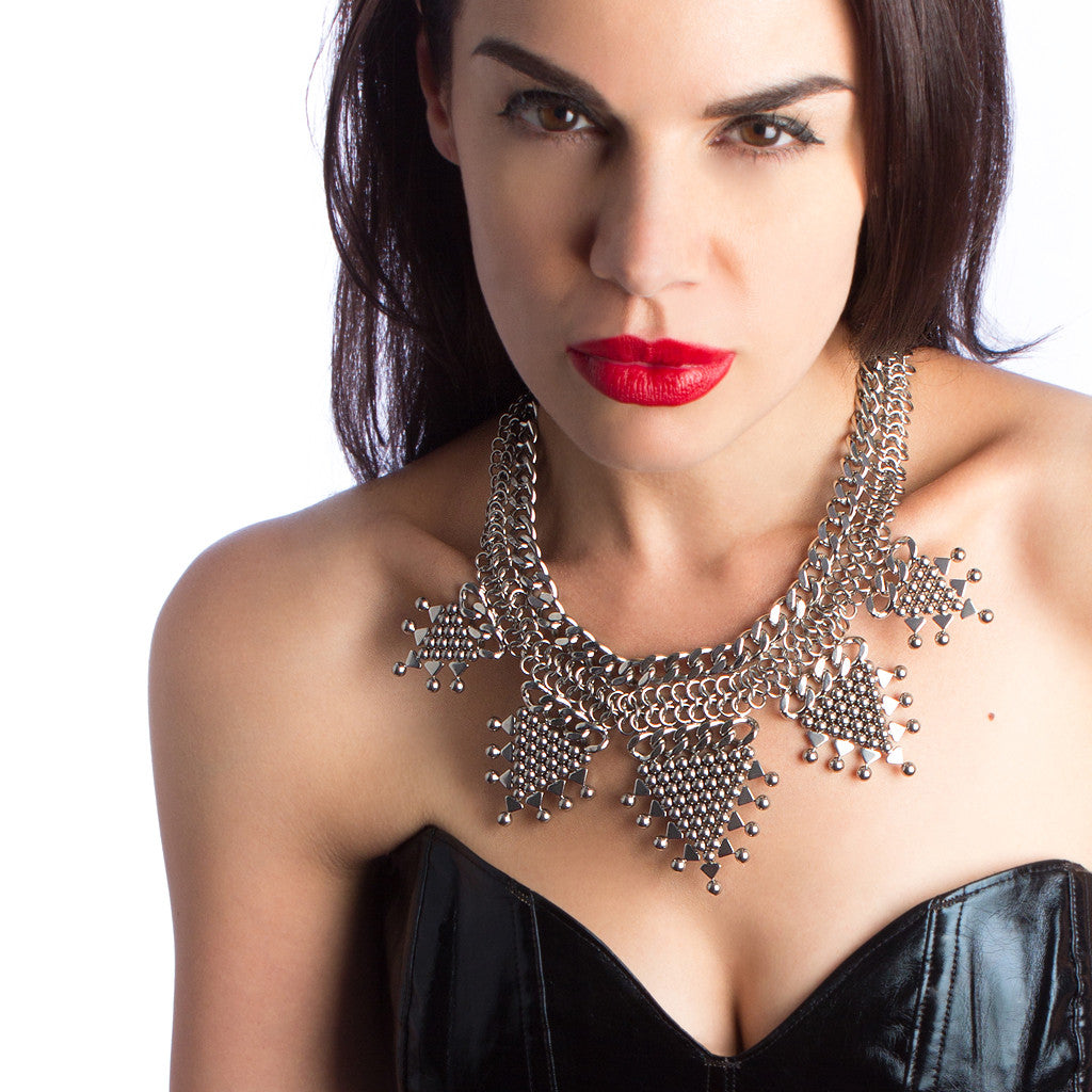 ONE OF A KIND Tribal Triangles Necklace