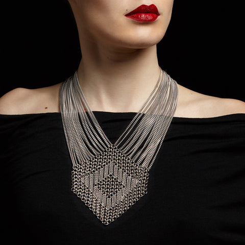 SLINKY Large Hexagon Necklace