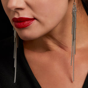 SLINKY Shoulder Duster Chain Earrings