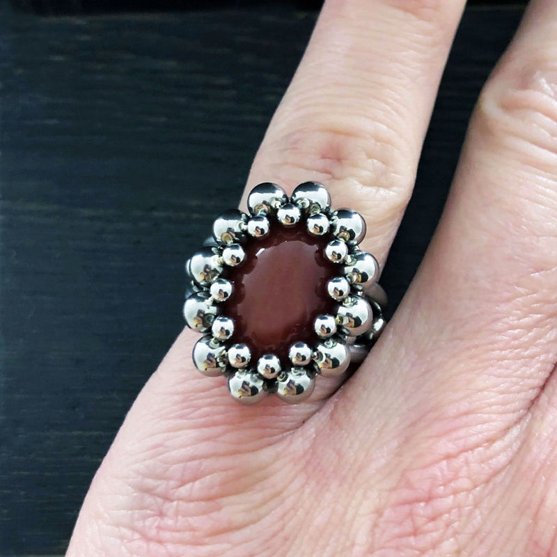 GEMSTONE Oval Carnelian Ring