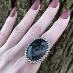 GEMSTONE Mystic Merlinite Oval Ring: Size 11