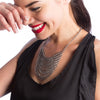 GLAM Draping Chain Necklace With Triangle Sides