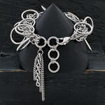 GLAM Woven Chain Large Link Charm Bracelet
