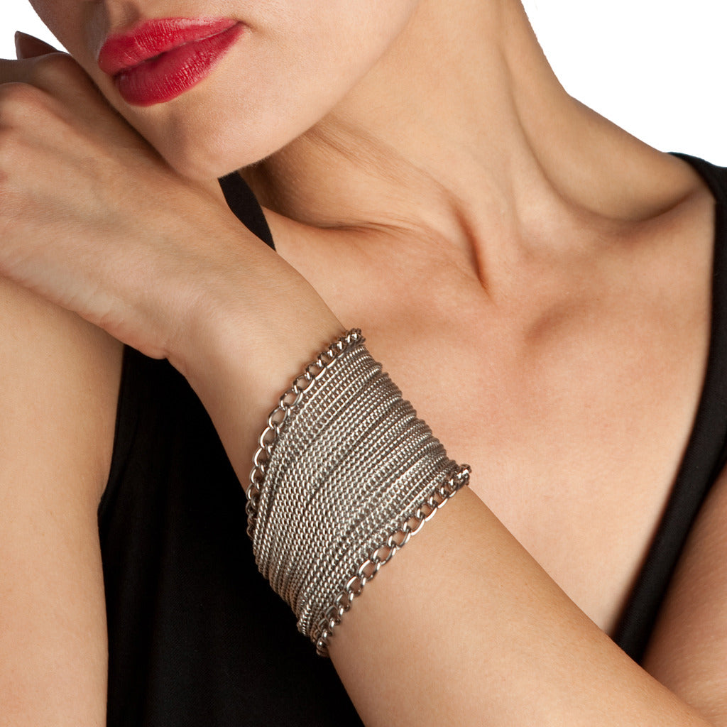 GLAM Wide Ribbon Cuff Bracelet
