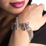 GOTHIC Multi-Chain, Diamonds, and Toggle Bracelet