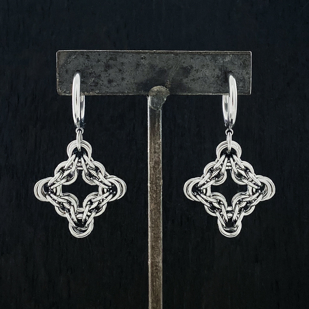 GAUGED Gothic Diamond Earrings