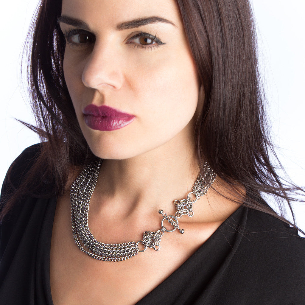 GOTHIC Multi-Chain Toggle Necklace