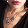 GOTHIC Triple Diamonds Necklace