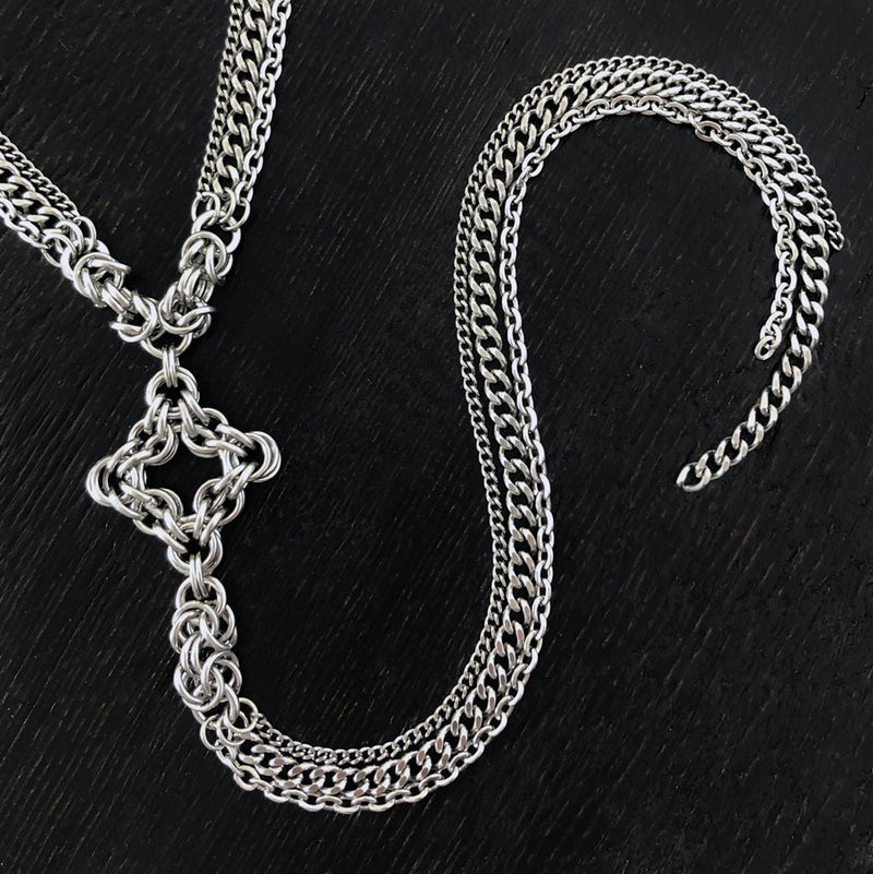 GOTHIC Diamond Y Necklace
