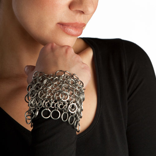 HALO 6-Row Scales Cuff Bracelet