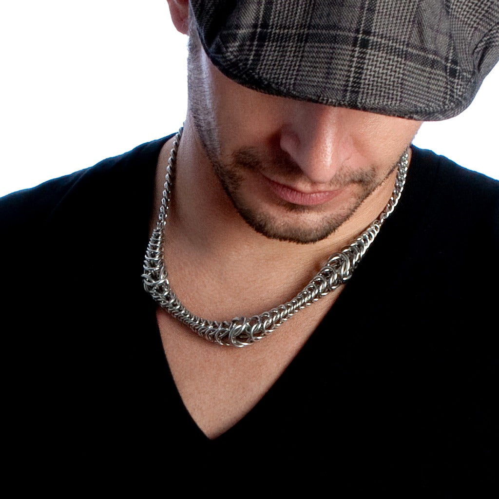 His Rope Wave Necklace Rapt In Maille