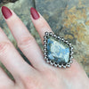 GEMSTONE Indonesian Marcasite Ring: Size 6