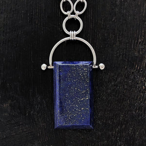GEMSTONE Rectangle Lapis Pendant