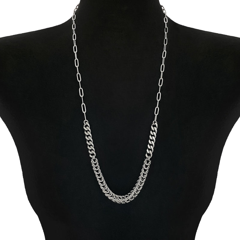 METAL Chainmaille Rope Section Necklace