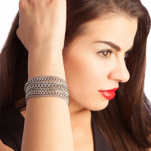 METAL 4-Row Multi-Chain Bracelet
