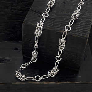 METAL Byzantine & Paperclip Link Necklace
