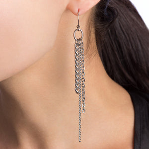 METAL Long 3-Chain Earrings
