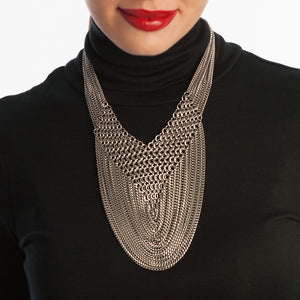 "METAL ""V"" Draping Chain Necklace"