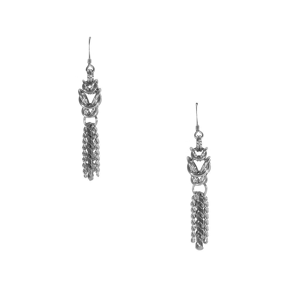 METAL Box & Chain Earrings