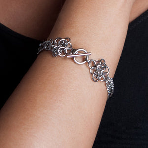 METAL Small Rosette Ribbon Bracelet