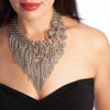 ONE OF A KIND Asymmetrical Botanical Fringe Neckpiece