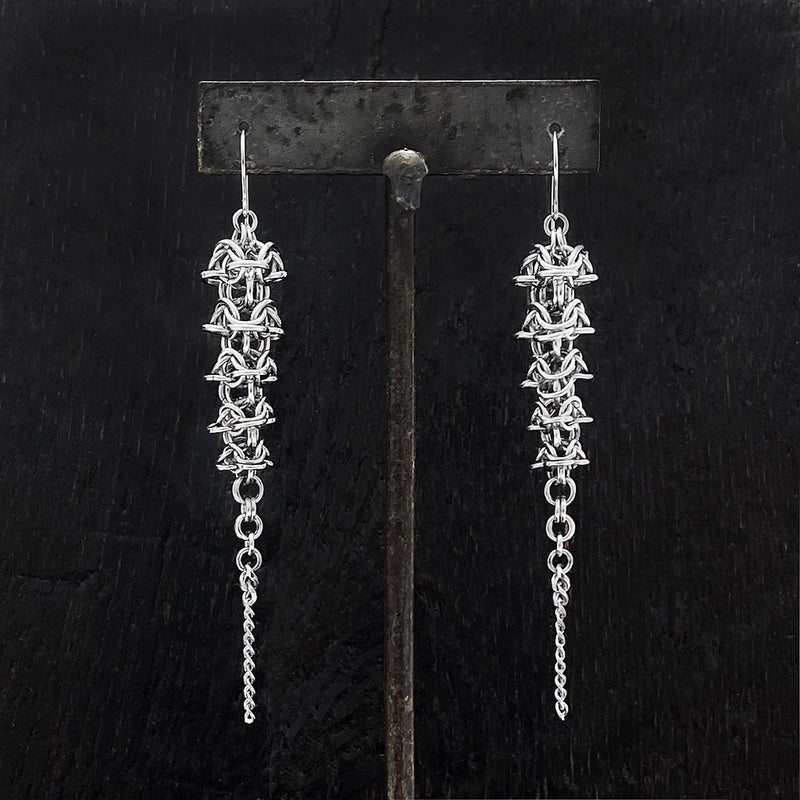 PURE Chainmaille Spine Earrings