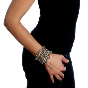 PURE 6-Row Hourglass Cuff Bracelet