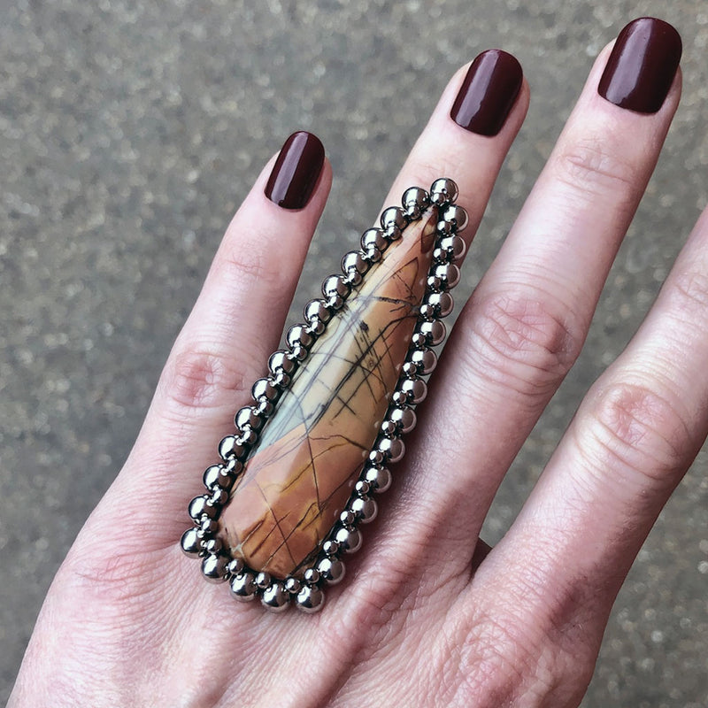 GEMSTONE Red Creek Jasper Arrow Ring