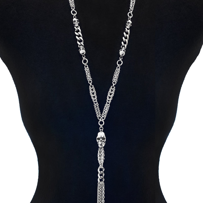 ROGUE X-Long Skull Y Necklace