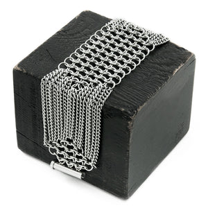 SLINKY 6-Row Elongated Hexagon Bracelet