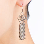 SLINKY Rosette and Tassel Earrings #2
