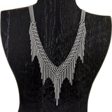 SLINKY Shaped Fringe Necklace