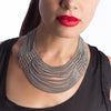 SLINKY 9-Row Center Drape Necklace