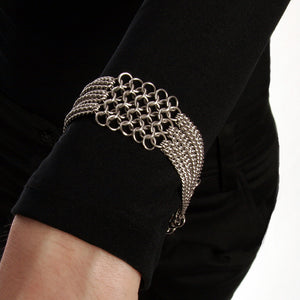SLINKY 4-Row Section Bracelet