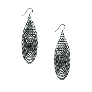 SLINKY Diamond & Draping Chain Earrings