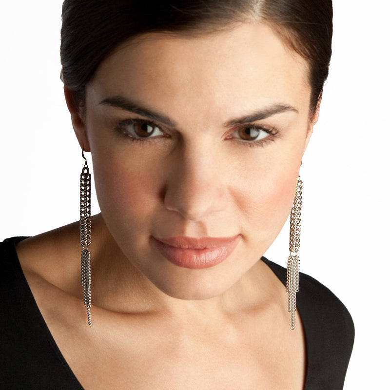 SLINKY Long Rope & Tassel Earrings