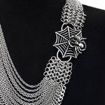 ROGUE Spiderweb Draping Chain Necklace