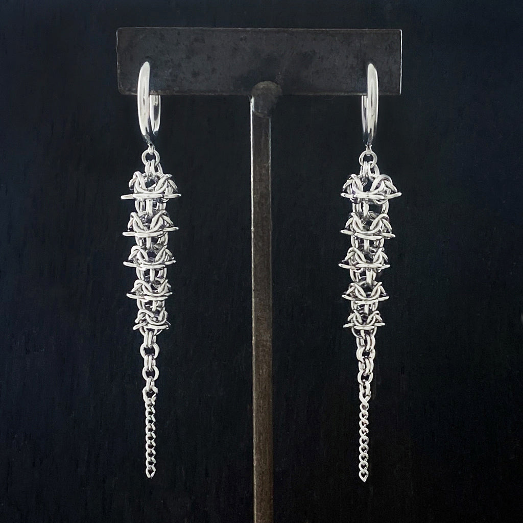 GAUGED Chainmaille Spine Earrings