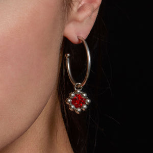 STRUCTURE Caged Crystal Interchangeable Charm Hoops #3