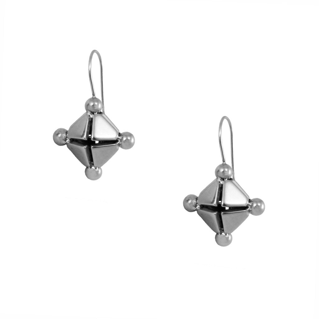 STRUCTURE 3D Diamond Earrings