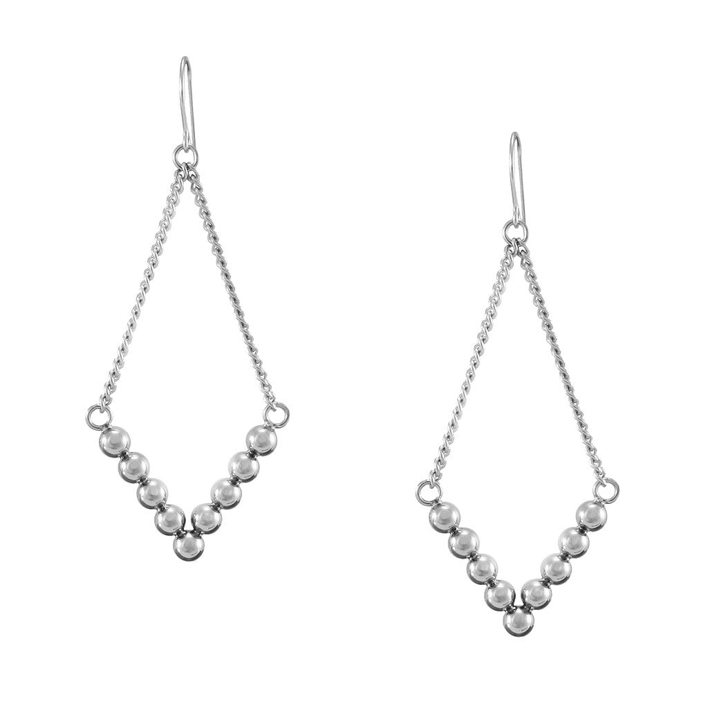 "STRUCTURE Hanging ""V"" Earrings"